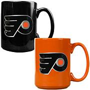 Philadelphia Flyers 2pc Coffee Mug Set