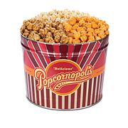 Popcornopolis Classic Popcorn Mix Trio 2Gal Striped Tin