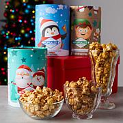 Popsalot (6) 4-5 oz Tubes Assorted Gourmet Holiday Popcorn