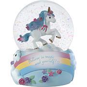 Precious Moments 193103 Believe In Magic Unicorn Musical Snow Globe
