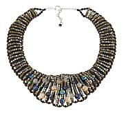 "Rara Avis by Iris Apfel Black Beaded 18-1/4"" Collar Necklace"