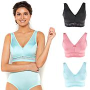 Rhonda Shear 3-pack Smooth Pinup Bra with Removable Pads