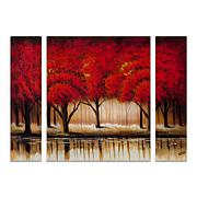 "Rio ""Parade of Red Trees II"" Panel Art - 24"" x 32"""