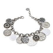 "R.J. Graziano ""Coin Club"" Medallion Disc Dangle Bracelet"