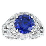 """Robert Manse """"CZ RoManse"""" Clear and Tanzanite-Color CZ Statement Ring"""
