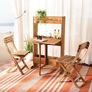 Safavieh Barley Flower Shelf 3-piece Bistro Set