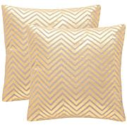 "Safavieh Elle Set of 2 Linen Pillows - 18"" x 18"""