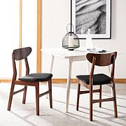 Safavieh Lucca Retro Brown Dining Chair 2-pack