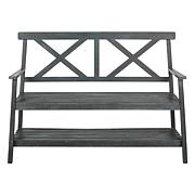 Safavieh Mayer Outdoor Bench with Shelf