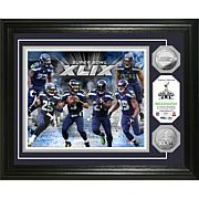 Seattle Seahawks NFC Champion Plaque with Silver Coins
