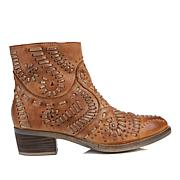 Sheryl Crow Fiesta Leather Stitch and Stud Bootie