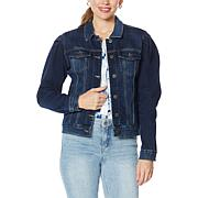 Skinnygirl Donna Puff-Sleeve Jean Jacket