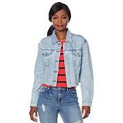 Skinnygirl Studded Cropped Denim Jacket