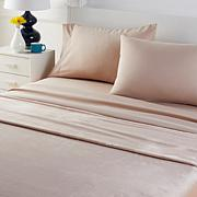 South Street Loft Plush Blanket and Microfiber Sheet Set
