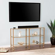 Southern Enterprises Dina Metal & Glass 3-Tier Console - Gold