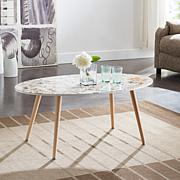 Southern Enterprises Goulter Oval Cocktail Table