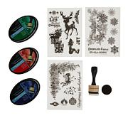 Spectrum Noir Holiday Ink Pad and Stamp Bundle - Christmas Classics
