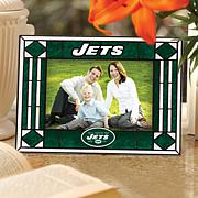 Sports Team Art Glass Horizontal Picture Frame - Jets