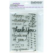 Stampendous Perfectly Clear Stamp Set - Happy Messages