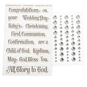 Stamps of Life Faith Phrases Clear Stamp Set & Embellishments