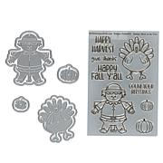 Stamps of Life Turkey and Scarecrow Pudgie Stamp and Die Set
