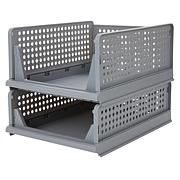 StoreSmith My Home Stacking Baskets - Set of 2