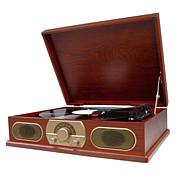 Studebaker Wooden Turntable with AM/FM Radio