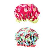 Studio Dry Shower Cap 2pk - Watermelon & Polka Dots
