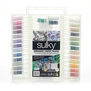 Sulky Rayon Thread Embroidery Collection with Case