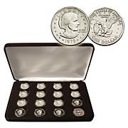 Susan B. Anthony Dollars - Entire 16-Coin Mint Set