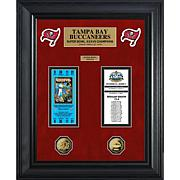 Tampa Bay Buccaneers Framed Super Bowl Ticket and Coin