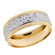 Technibond® 2-Tone Diamond-Cut Eternity Band Ring