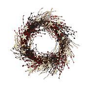 """The Gerson Company 22""""L Americana Berry Wreath"""
