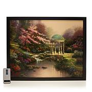 Thomas Kinkade Pools of Serenity Fiber-Optic Lit Canvas Art w/Remote