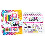 Three Cheers for Girls (3C4G) Tie-Dye Sketching Set and Sticker Book