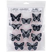 """Tim Holtz Cling Stamps 7"""" x 8.5"""" - Flutter"""