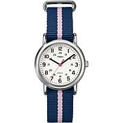 Timex Women's Weekender Blue and Pink Nylon Strap Watch