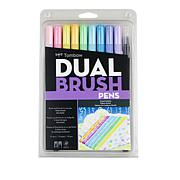 Tombow Dual Brush Pen 10-pack - Pastel