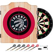 Toronto Raptors NBA Wood Dart Cabinet Set