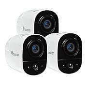 Toucan Gen. 2 Wireless Indoor/Outdoor Camera 3-pack w/90-Day Pro Trial