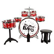 Toy Drum Set for Kids 7 Piece Set with Bass Drum by Hey! Play!