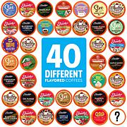Two Rivers Coffee 40ct Flavored Coffee Pods Sampler-40 Flavors