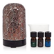 UnMatched Cracked Glass Diffuser with 3 Essential Oils