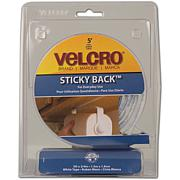 VELCRO® STICKY BACK™ Tape - 5' - White