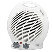 Vie Air 1500W Portable 2-Settings White Home Fan Heater with Adjust...