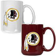 Washington Redskins 2pc Coffee Mug Set