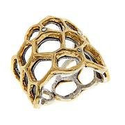 "Waxing Poetic® ""Honey Love"" Crystal Cuff Ring"