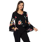 Wendy Williams Drama Bell Sleeve Ponte Top