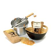 Whirley Pop Amish Popcorn with Bamboo Bowl Set