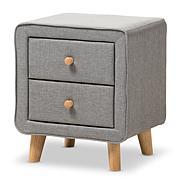 Wholesale Interiors Jonesy Fabric Upholstered 2-Drawer Nightstand